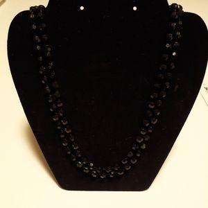 "Jewelry - 59"" black beaded Necklace"